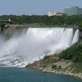 I have to cross the boarder to capture this falls from the Canadian side.