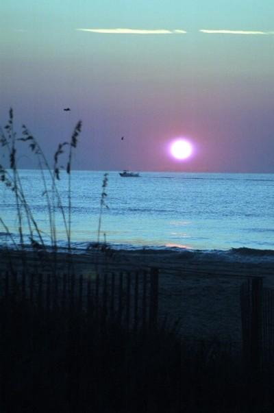 Sun Rising on the Atlantic Ocean