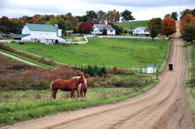 Fall in amish country