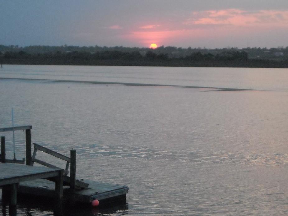 Sunset at Topsail Island, NC.