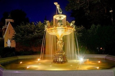 Fountain in Village of Dryden, NY