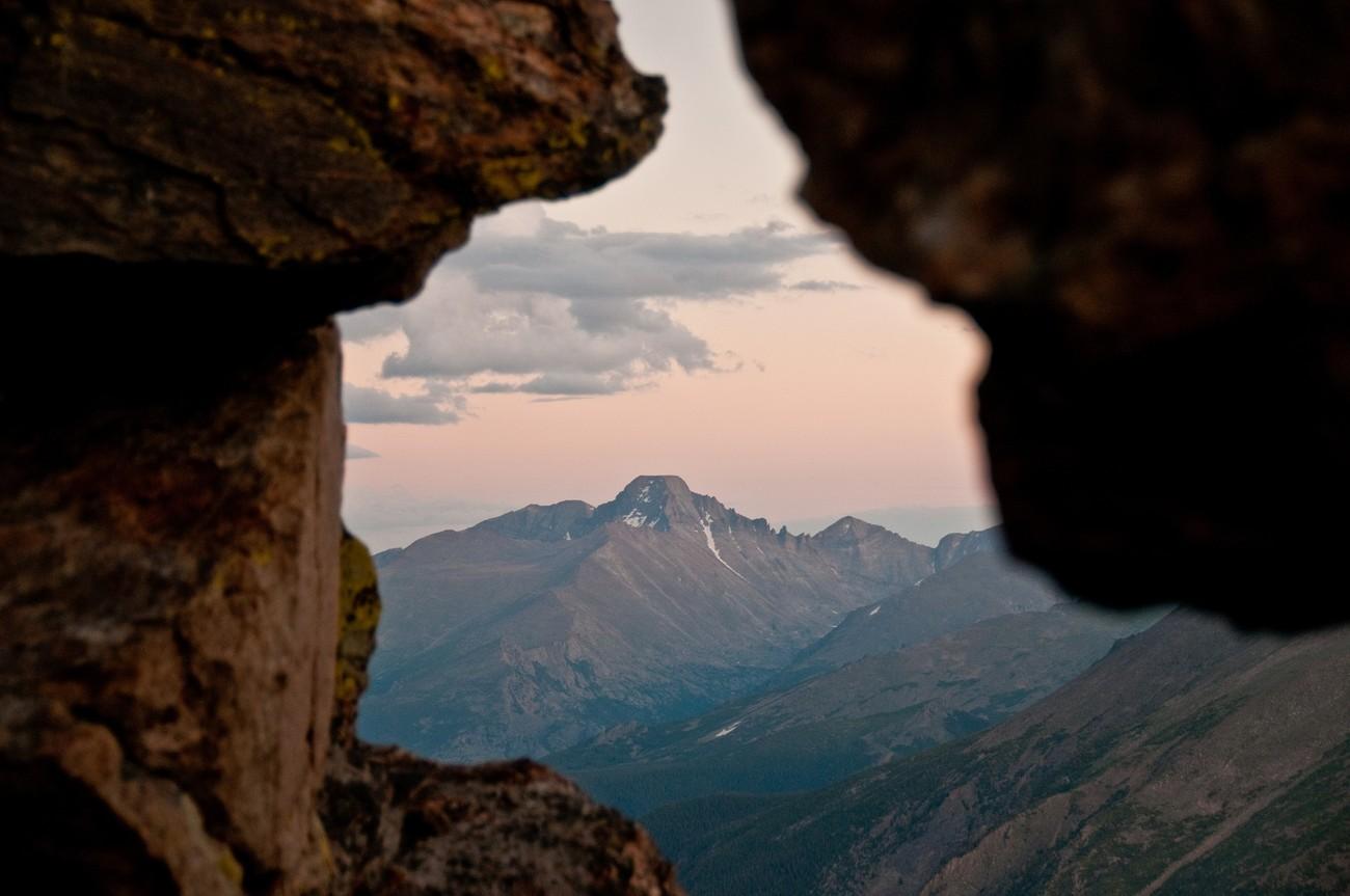 Longs Peak (Elev. 14,255 feet) from Trail Ridge Road