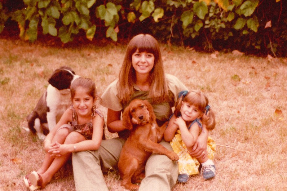 Me my daughters and dogs.
