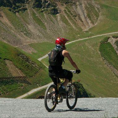 Mountain biking in Saalbach, Austria
