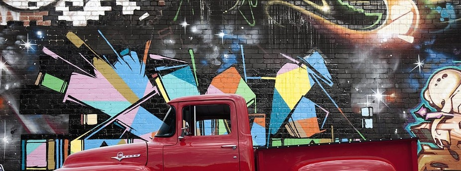 1956 Ford Pickup and Graffiti Art in the Los Angeles Art District