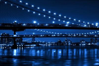 THREE BRIDGES IN BLUE