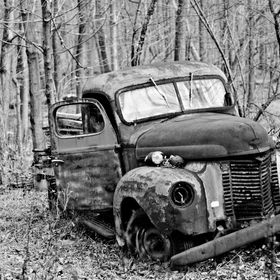 This truck was left abandoned on an old farm in Historic Buck's County, PA.  It just screamed desolation to me.  I shot it on a dreary fall day w...
