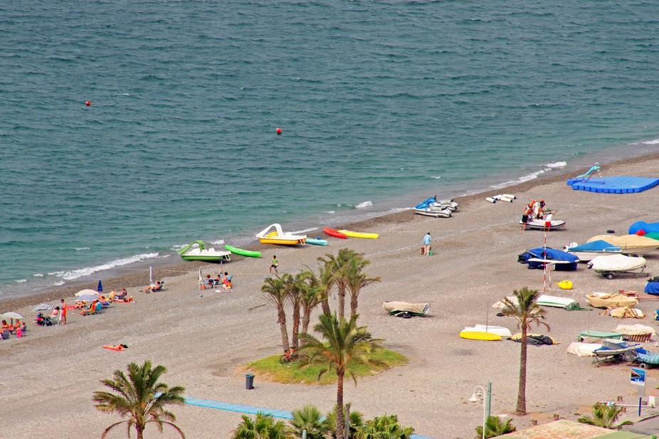 Beach at Almunecar, Spain