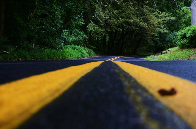 Two Lane Blacktop by paulmullin - Above Or Below Photo Contest