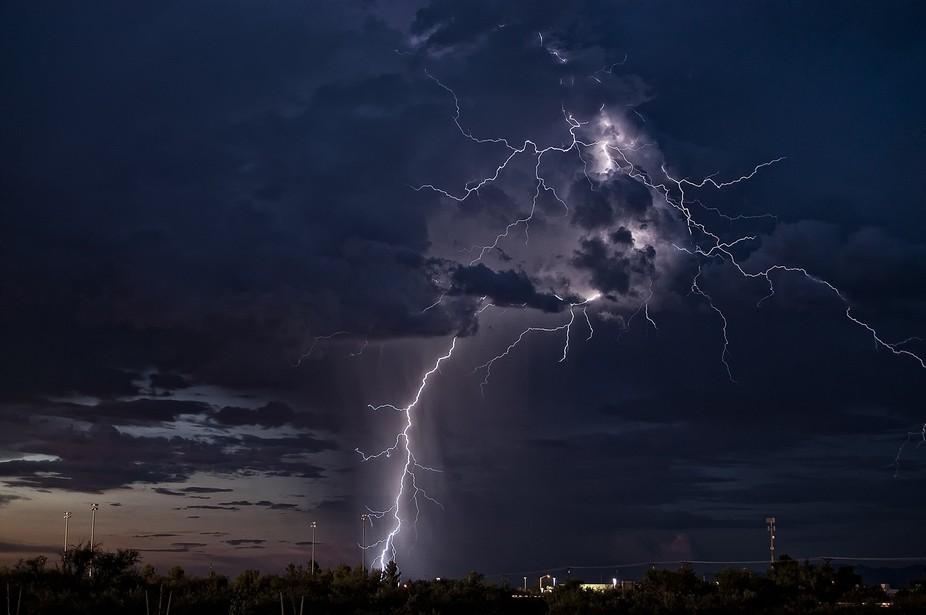 Monsoon thunderstorm Sierra Vista, Arizona.  22 August, 2011.
