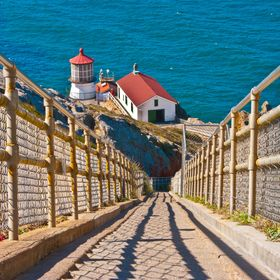 300 steps down to the Point Reyes Lighthouse