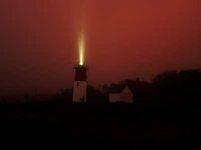A guiding light in the fog
