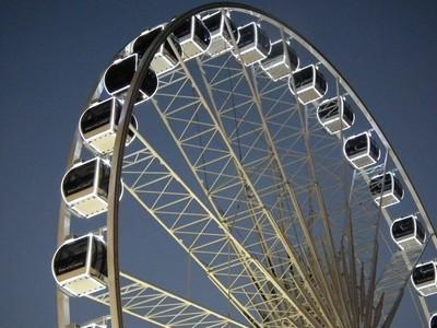 Ferris wheel,Over Brighton