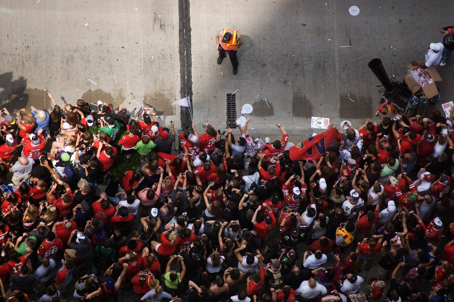 Chicago Blackhawks' 2010 Stanley Cup Victory Celebration Parade in Downtown Chicago, Ill...
