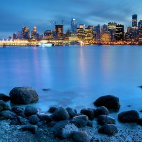 Downtown Vancouver, as viewed from Stanley Park across Coal Harbour. www.kjmphotographic.com