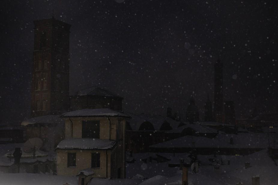 Bologna night landscape