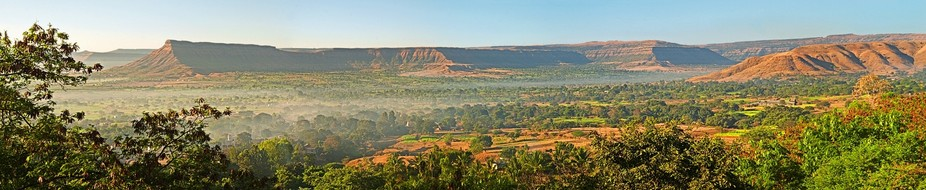 Over view hills of Satara Town in Maharastra-India