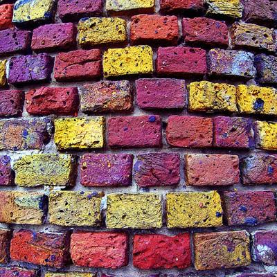 Bricks of many colours