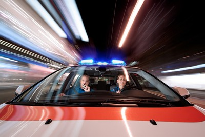 Behind The Lens With SamuelBuchmann, strapping a camera to the bonnet of a police car