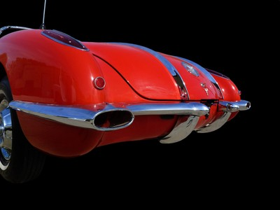 1958 Red Corvette drivers side