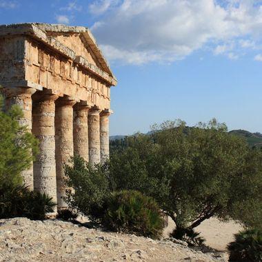 Taken near Calatafimi Segesta, in Sicily (Italy) The Segesta Temple is a Greek archaeological site in the Mediterranean.