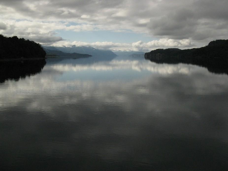 Cold morning at Nahuel Huapi lake, Villa la Angostura, south of Argentina