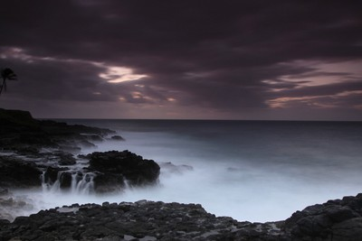 lava rock wash, Kauai