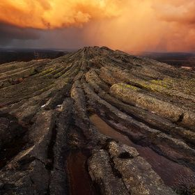 At this very spot, there used to be an active volcano back in the day, some million years ago. Eventually the lava solidified in the form of a pa...