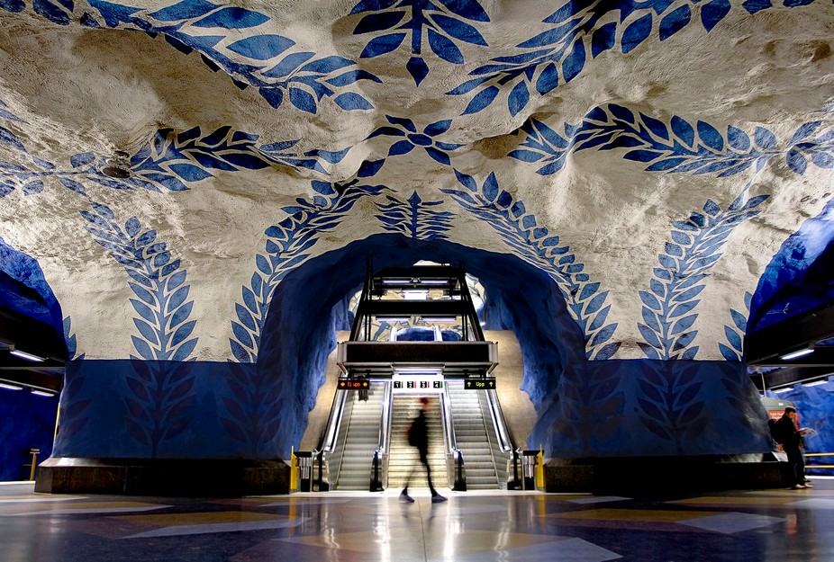 "Stockholm Metro.  Featured in the Exhibition, "" For The Road"" in Budapest, Hungary 2008..."