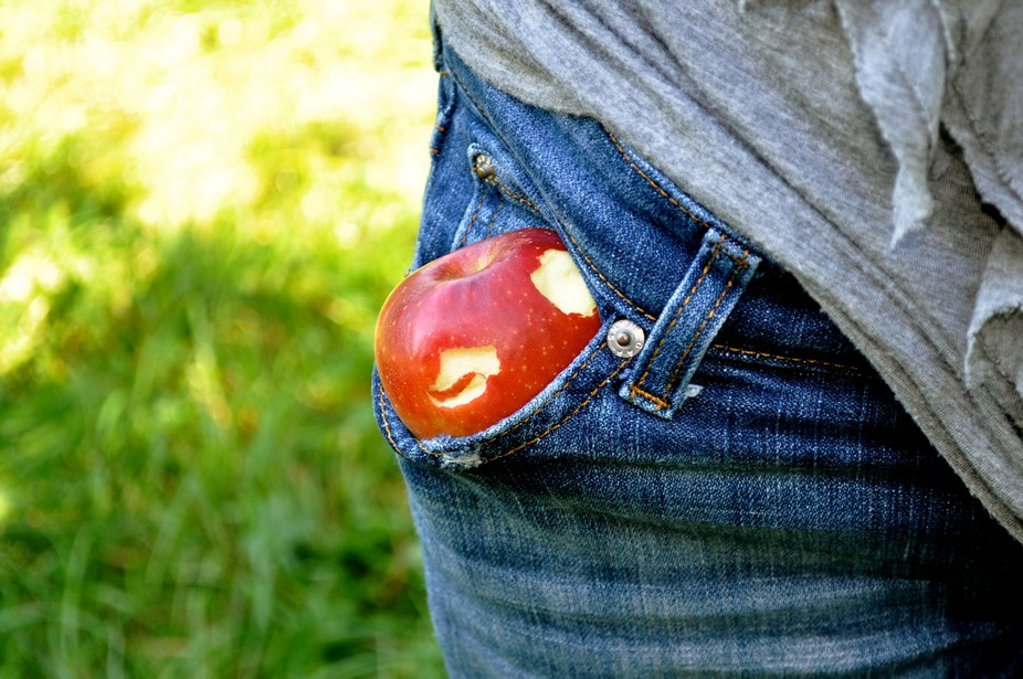 Charlie didn\'t want to waste his apple, so he asked his mom to hold it for him. She decided to pl...