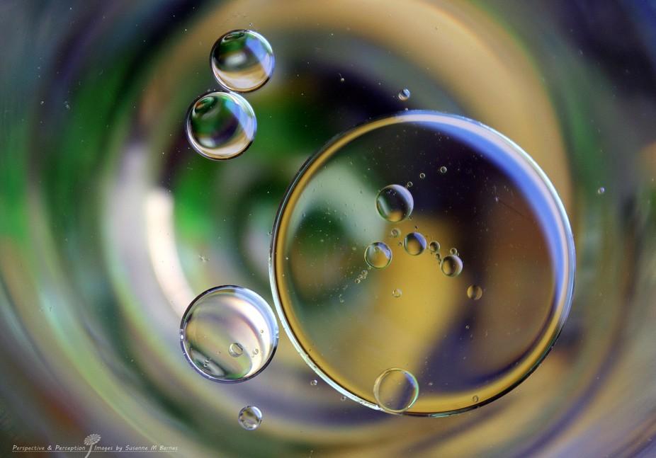 macro of bubbles