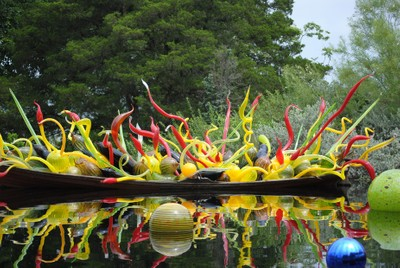 Chihuly Blown Glass exhibit at Dallas Arboretum