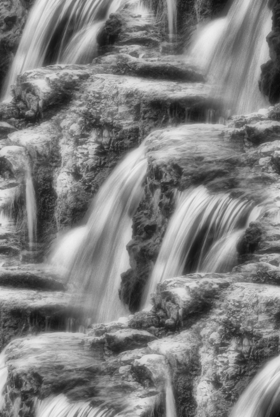 This is a creative view of Joplin Grand Falls in Joplin, MO.