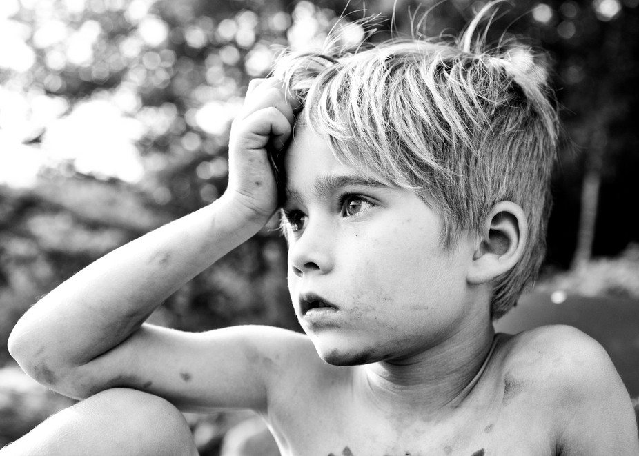 This is my favorite portrait of my first-born Nephew.  It\'s from a while back before I made my ph...