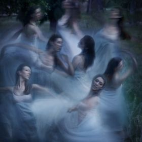 My friend (and model/dancer) Sandy Moore provided beautiful, graceful movements for this long-exposure shot.