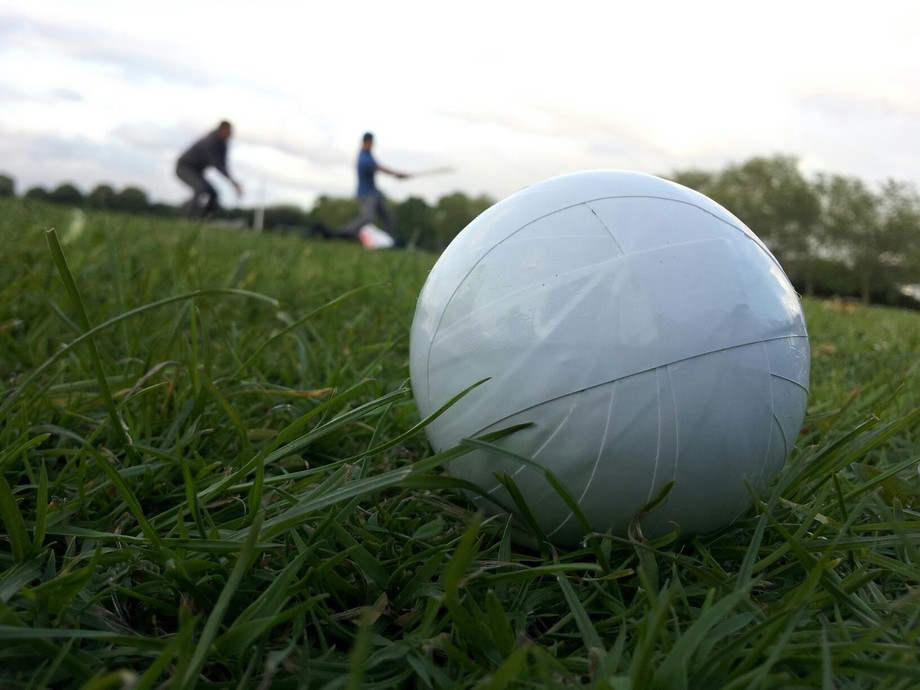 Cricket played in Pakistan with tennis ball stick by the solution tape.. its really fun whoever p...
