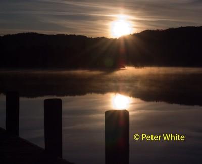Sun rise over coniston