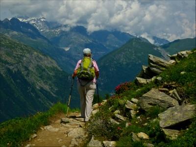 alpine walk in Chamonix