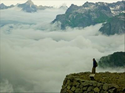 Fog below the Brevent