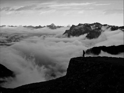 Clouds below the Brevent.