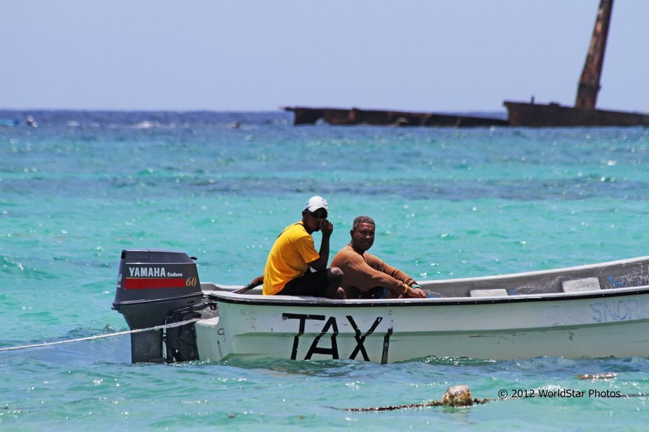 A private water taxi off the beach resort in Punta Cana, Dominican Republic looking to transport ...