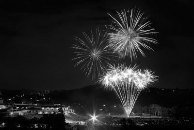 Fireworks B&W