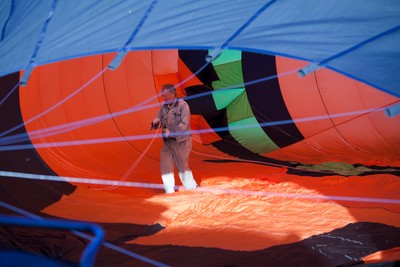 Mike Reese, Owner of Mountain Butterfly, Inside His Hot Air Balloon