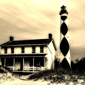 Cape Lookout is located along the Outer Banks area of the North Carolina coastline. Built in 1859 by Keeper John Royal, standing 163 feet tall, t...