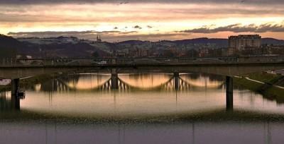 The bridge in Maribor,Slovenia