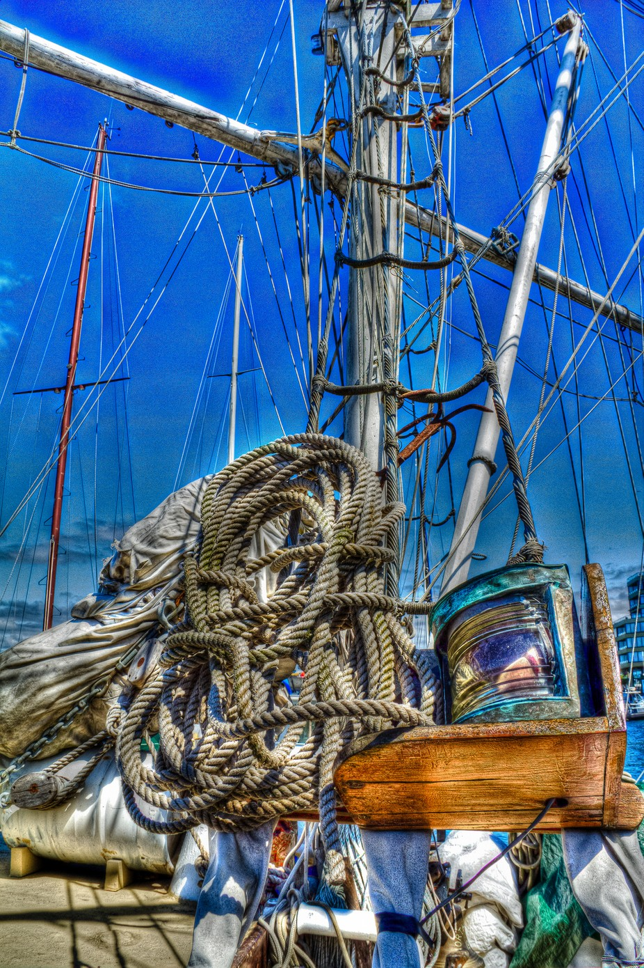 A antique sailing schooner in Victoria British Columbia
