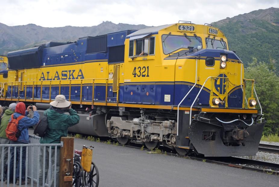 Anchorage to Denali train