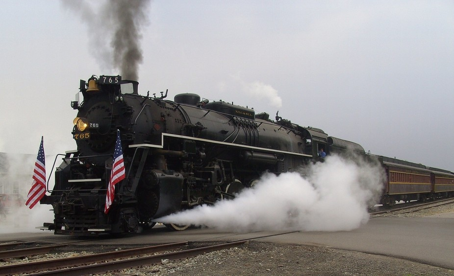 Nickle Plate Railroad Berkshire 765 built in 1940 in Lima, Ohio.  Rebuilt at the Fort Wayne Histo...