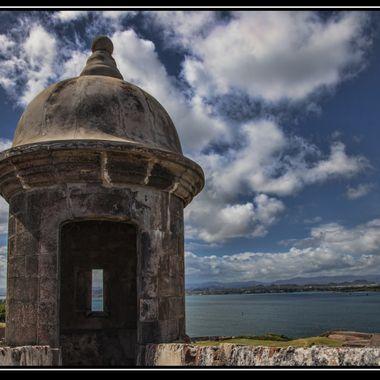 Garita view of the harbor - San Juan Puerto Rico.