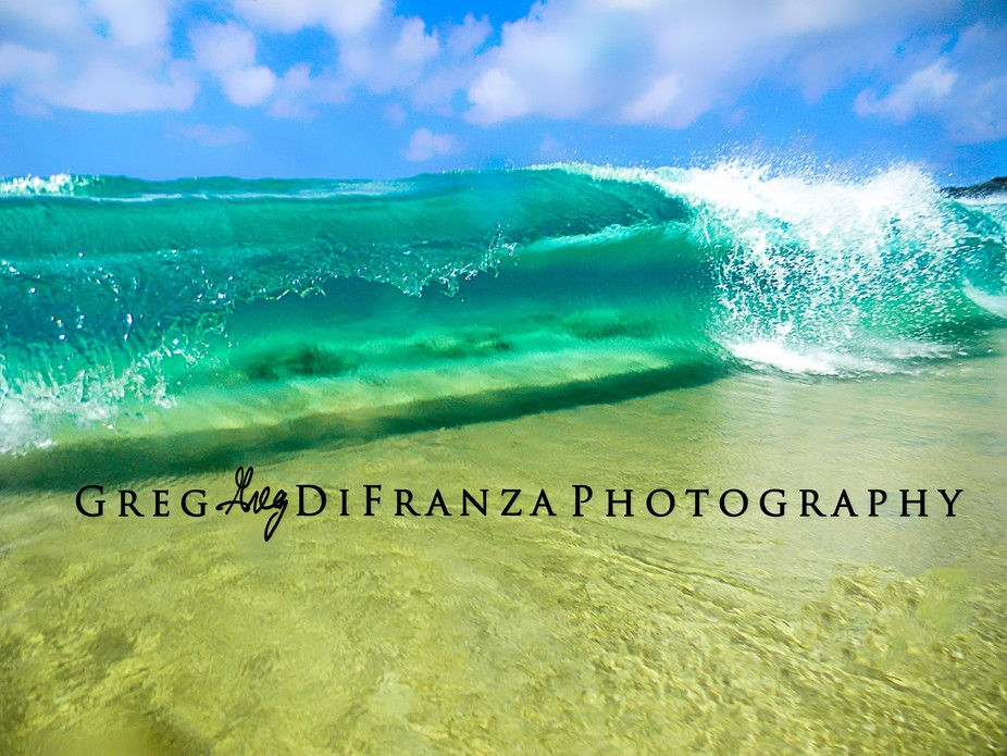 Six foot wave in ankle deep water!